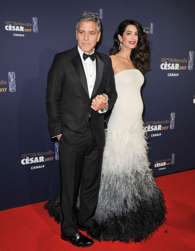 George et Amal Clooney en Atelier Versace
