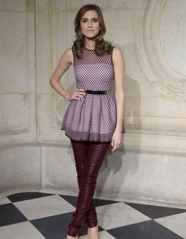 Allison Williams au défilé Dior