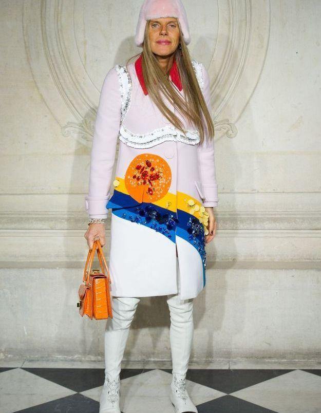 Anna Dello Russo au défilé Dior