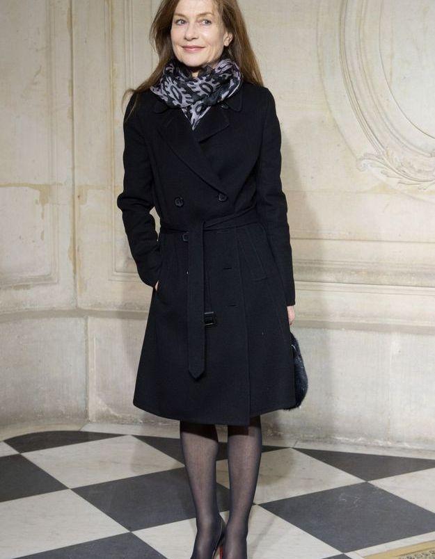Isabelle Huppert au défilé Dior