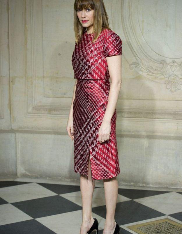 Marie-Josée Croze au défilé Dior