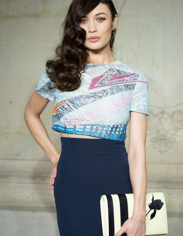 Olga Kurylenko au défilé Dior