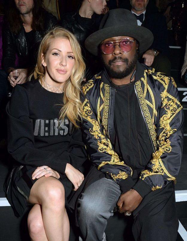 Ellie Goulding et Will.I.Am au défilé Versus Versace