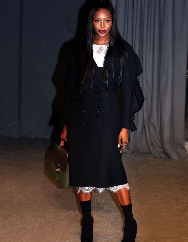 Naomi Campbell au défilé Burberry