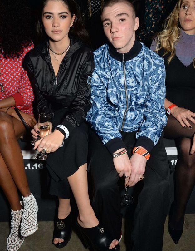 Rocco Ritchie et Kim Turnbull au défilé Versus Versace