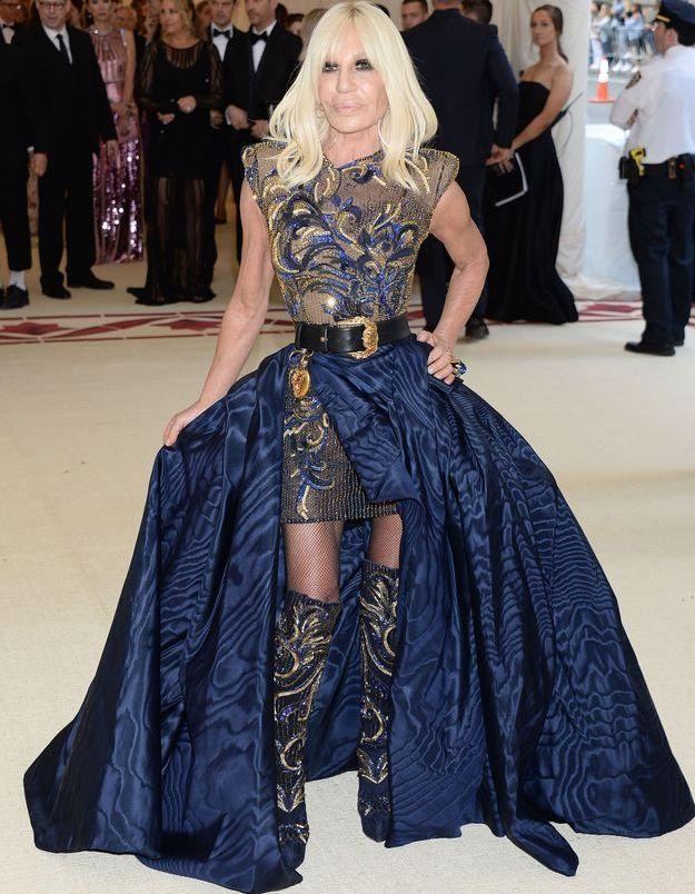 Donatella Versace en Versace