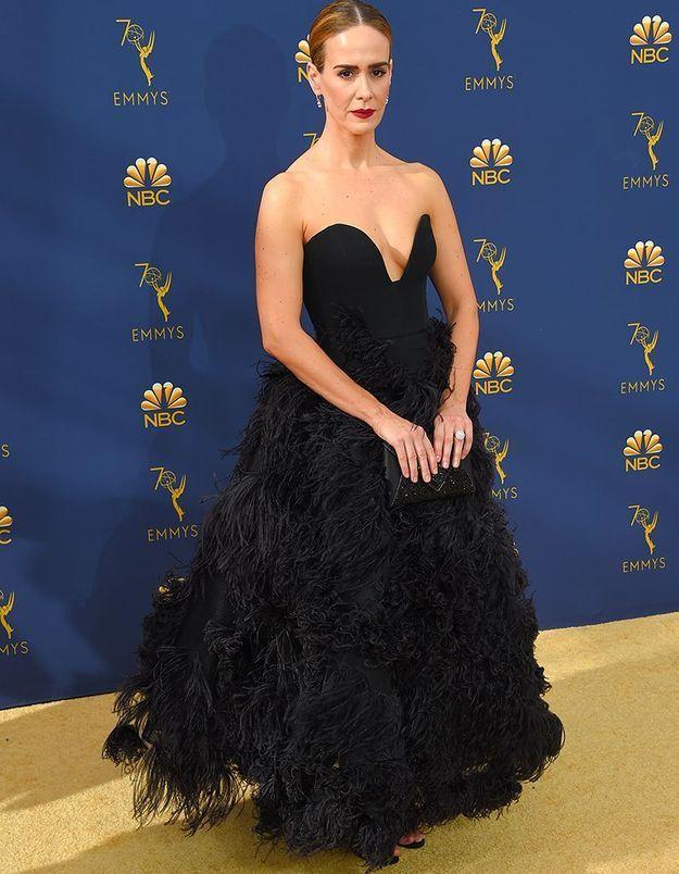 Sarah Paulson en Oscar de la Renta