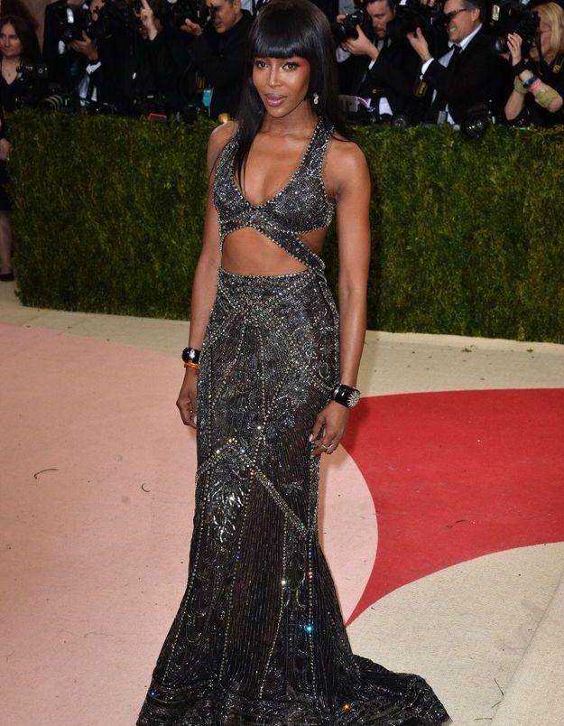 Naomi Campbell en Cavalli Couture