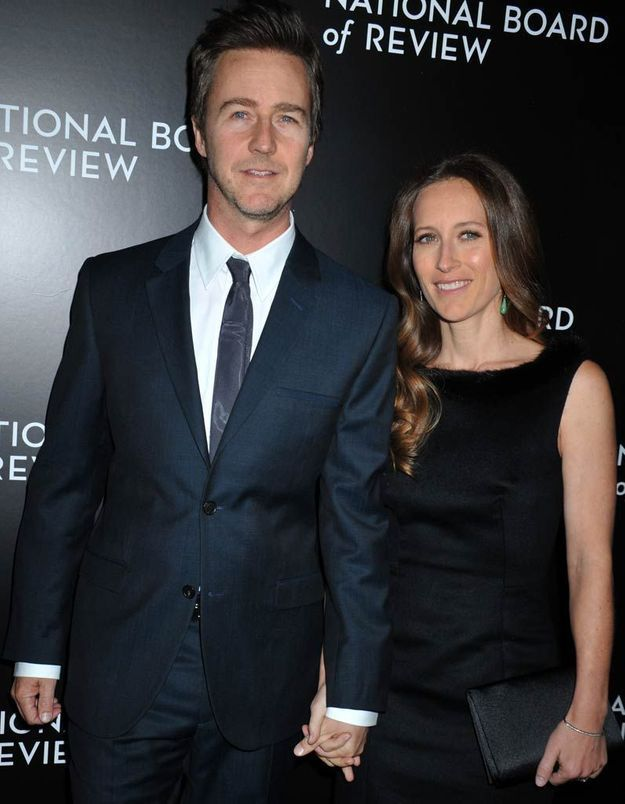 Edward Norton et Shauna Robertson