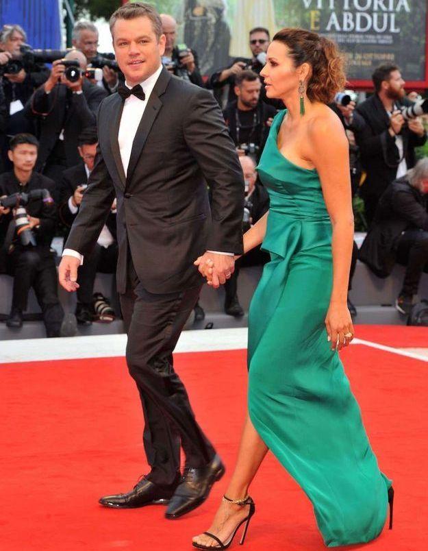 Matt Damon et sa femme Luciana