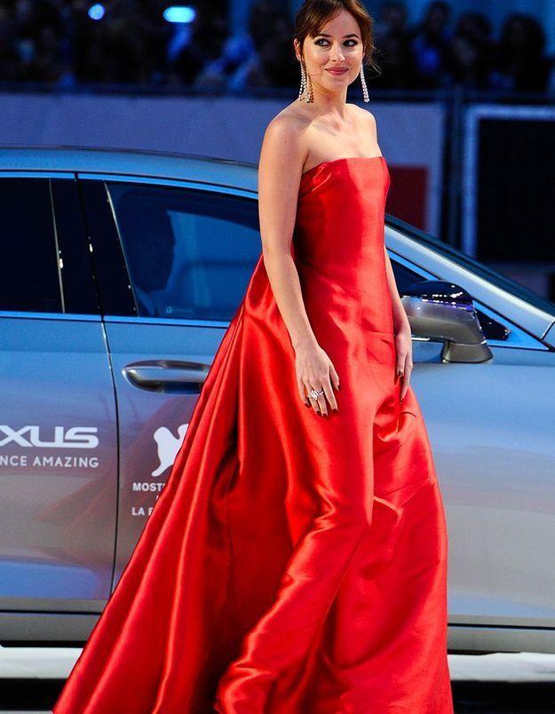 Dakota Johnson en Dior Couture