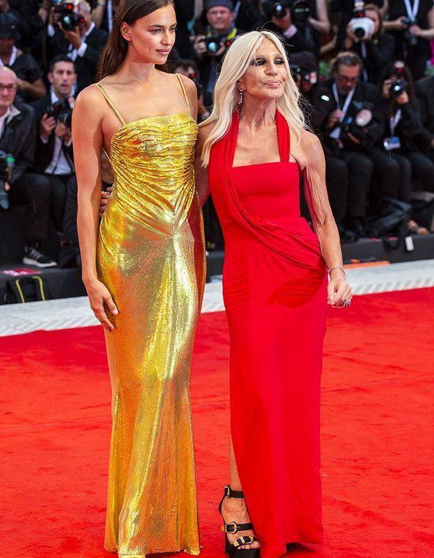 Irina Shayk et Donatella Versace
