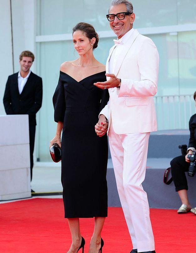 Jeff Goldblum et Emily Livingston