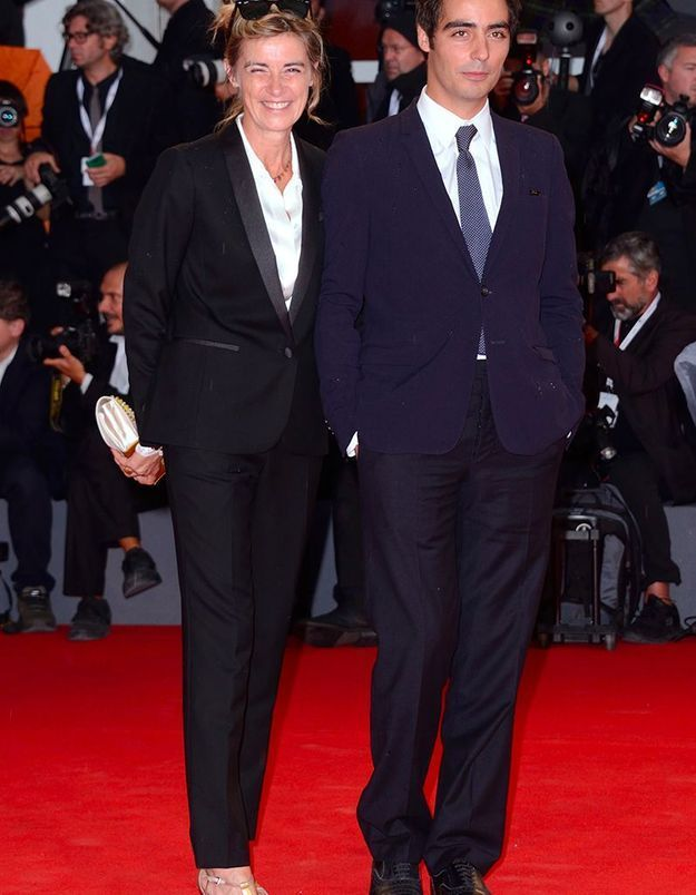 Anne Consigny et son fils