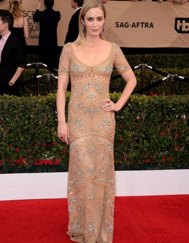 Emily Blunt en Cacalli Couture