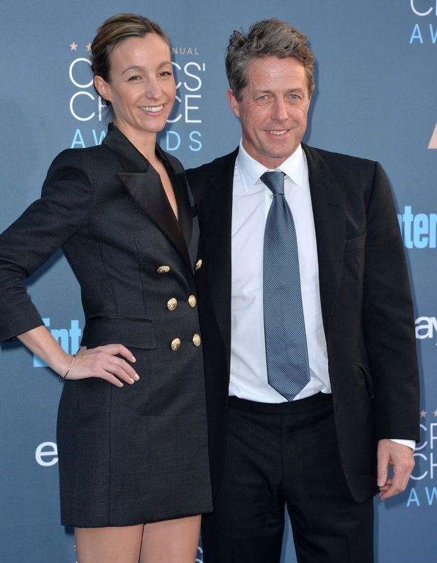 Hugh Grant et Anna Elisabet Eberstein
