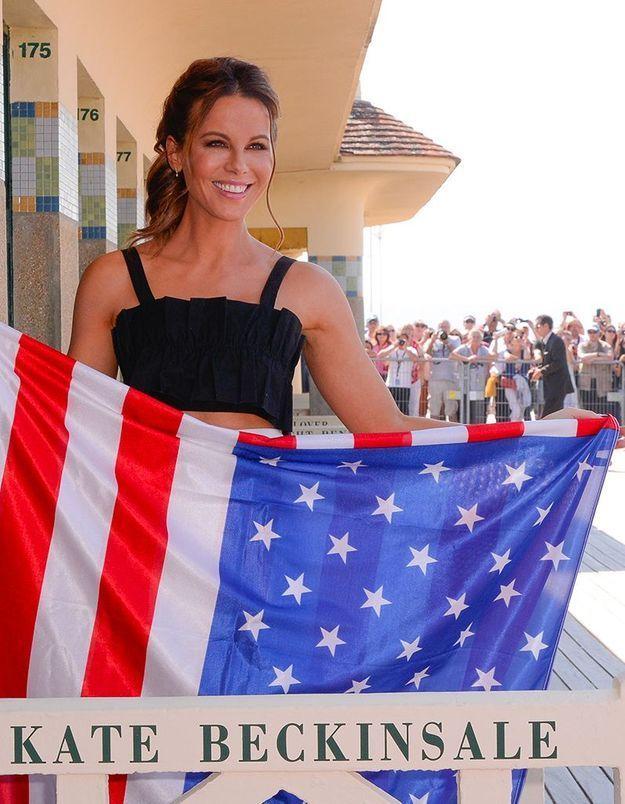 Kate Beckinsale inaugure sa cabine