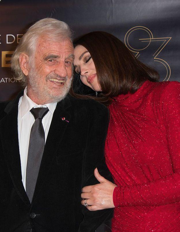 Jean-Paul Belmondo et Monica Bellucci