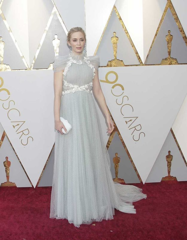 Emily Blunt en Schiaparelli Couture