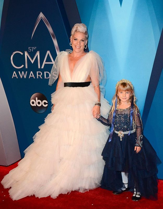 Pink et sa fille Willow