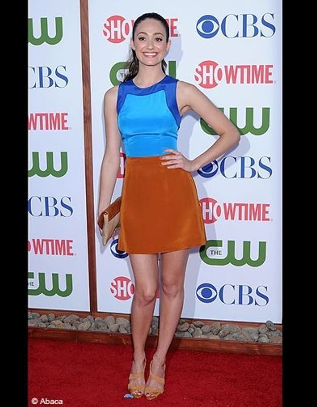 People tapis rouge soiree cbs emmy rossum