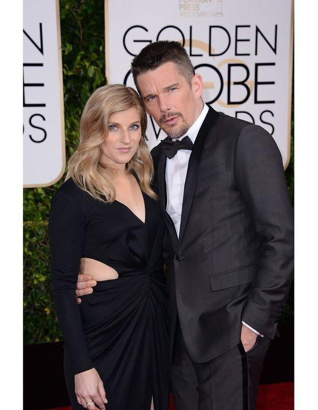 Ethan Hawke et son épouse