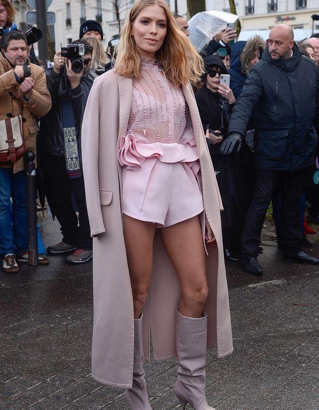 Elena Perminova au défilé Valentino