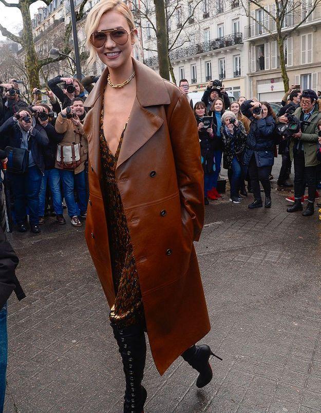 Karlie Kloss au défilé Valentino