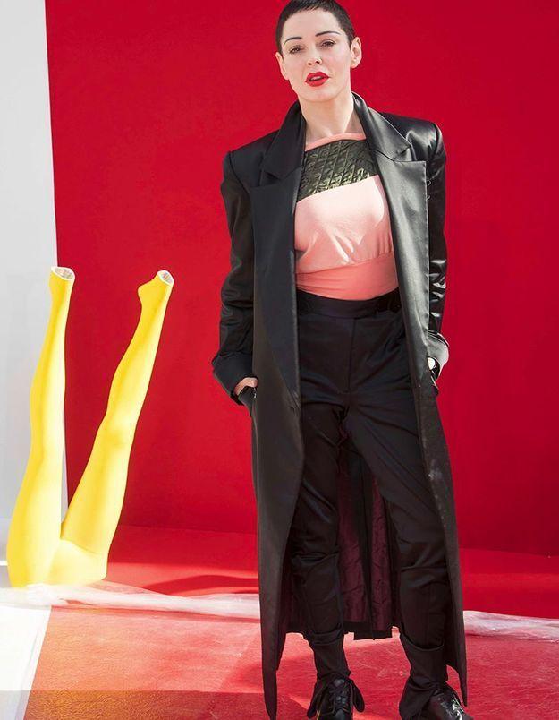 Rose McGowan au défilé Vivienne Westwood