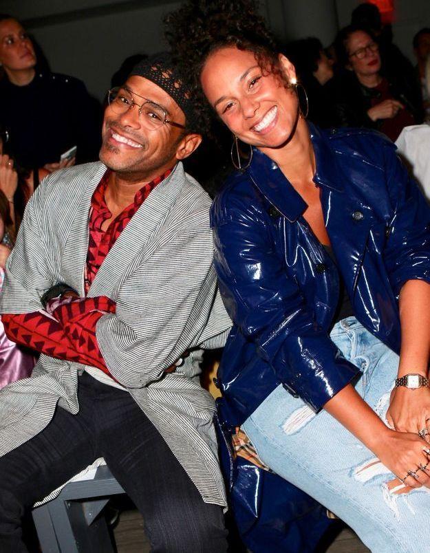 Alicia Keys et Maxwell au défilé Studio 189