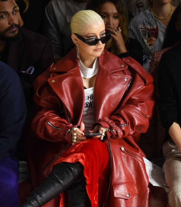 Christina Aguilera au défilé Christian Cowan