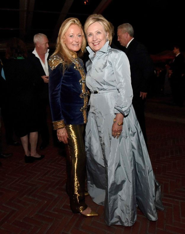 Hillary Clinton et Ricky Lauren au défilé Ralph Lauren
