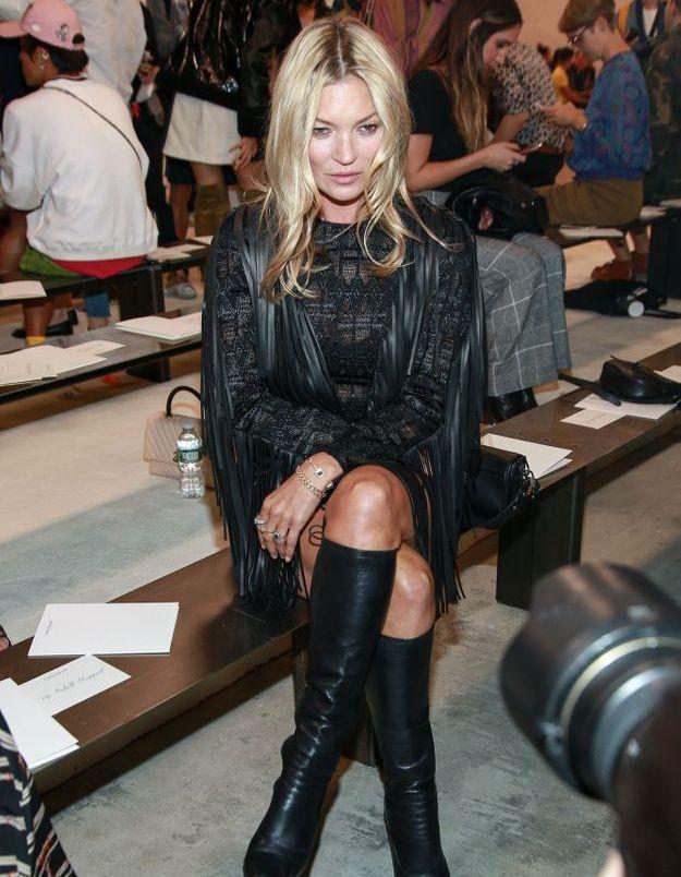 Kate Moss au défilé Longchamp