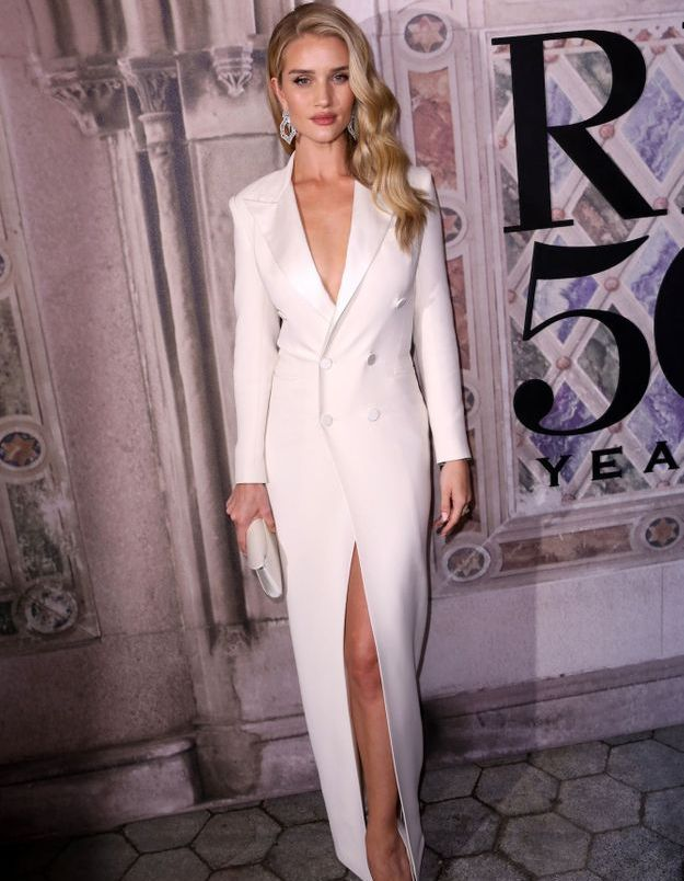 Rosie Huntington-Whiteley au défilé Ralph Lauren