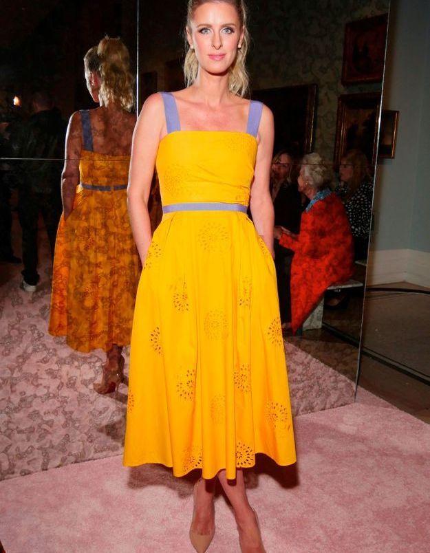 Nicky Hilton Rothschild au défilé Carolina Herrera