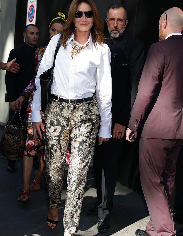 Carla Bruni au défilé Dolce & Gabbana