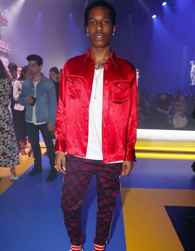 A$AP Rocky au défilé Gucci
