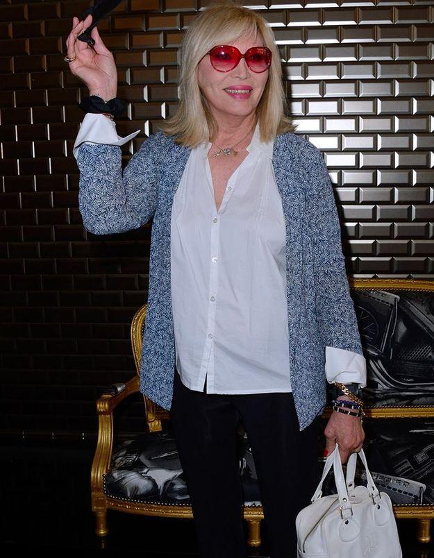 Amanda Lear au défilé Jean Paul Gaultier