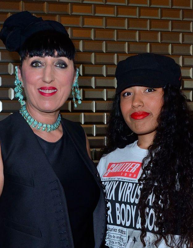 Rossy de Palma et sa fille Luna au défilé Jean Paul Gaultier