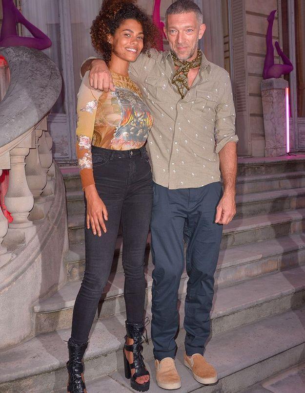 Vincent Cassel et Tina Kunakey à la Scandal Party de Jean Paul Gaultier