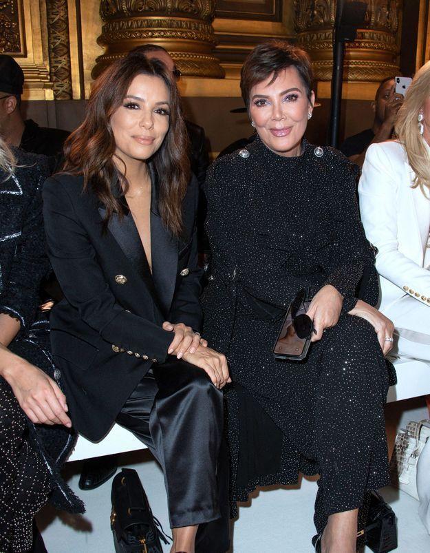 Eva Longoria et Kris Jenner : l'étonnante rencontre au défilé Balmain