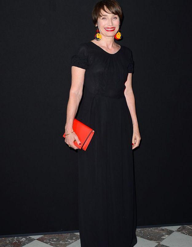 Kristin Scott Thomas au défilé Giorgio Armani Privé