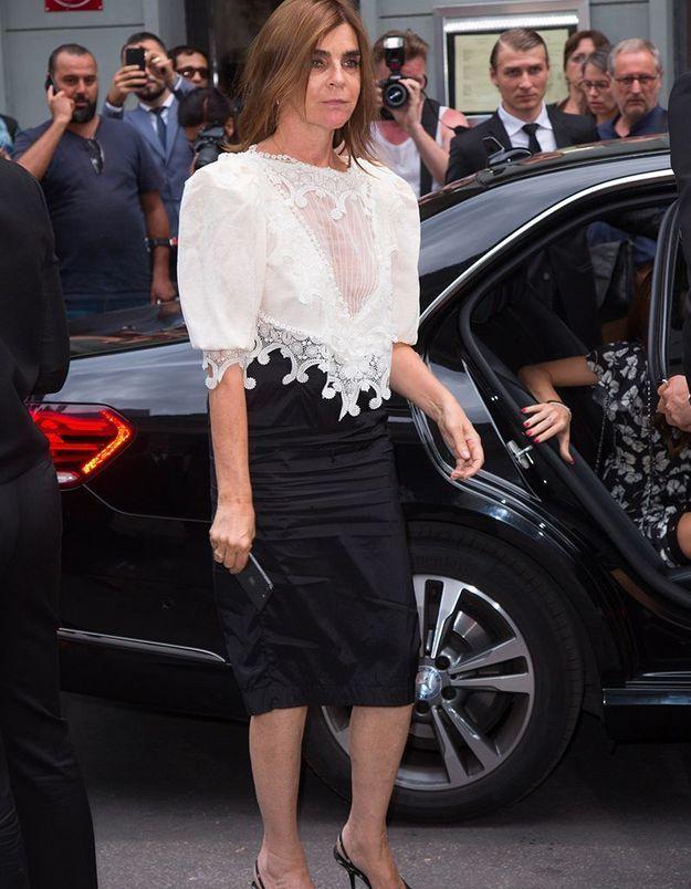 Carine Roitfeld au défilé Givenchy