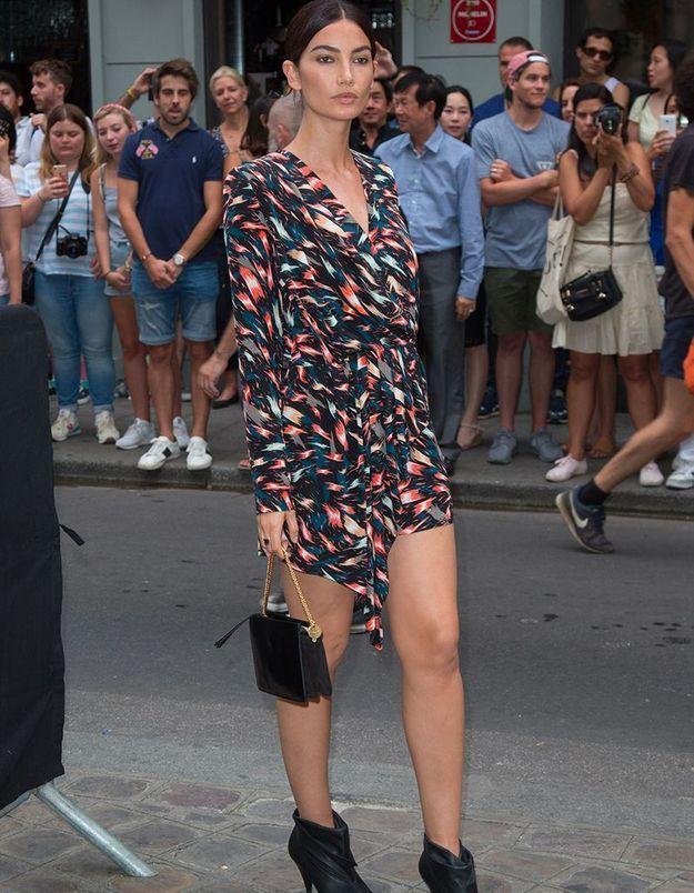 Lily Aldridge au défilé Givenchy