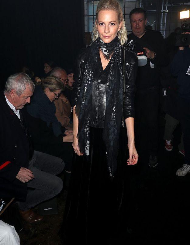 Poppy Delevingne au défilé Zadig & Voltaire