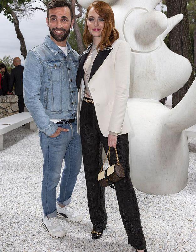 Nicolas Ghesquière et Emma Stone