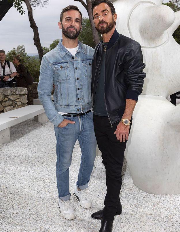 Nicolas Ghesquière et Justin Theroux
