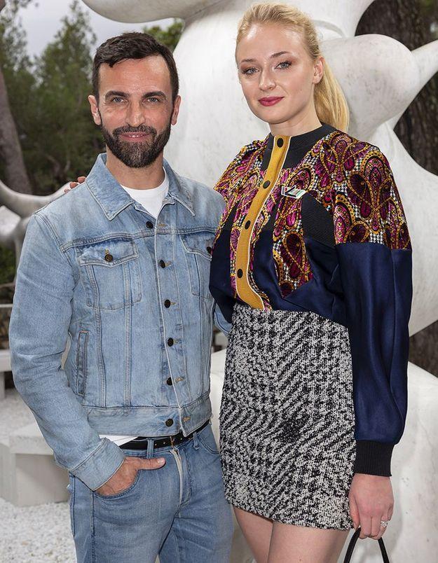 Nicolas Ghesquière et Sophie Turner