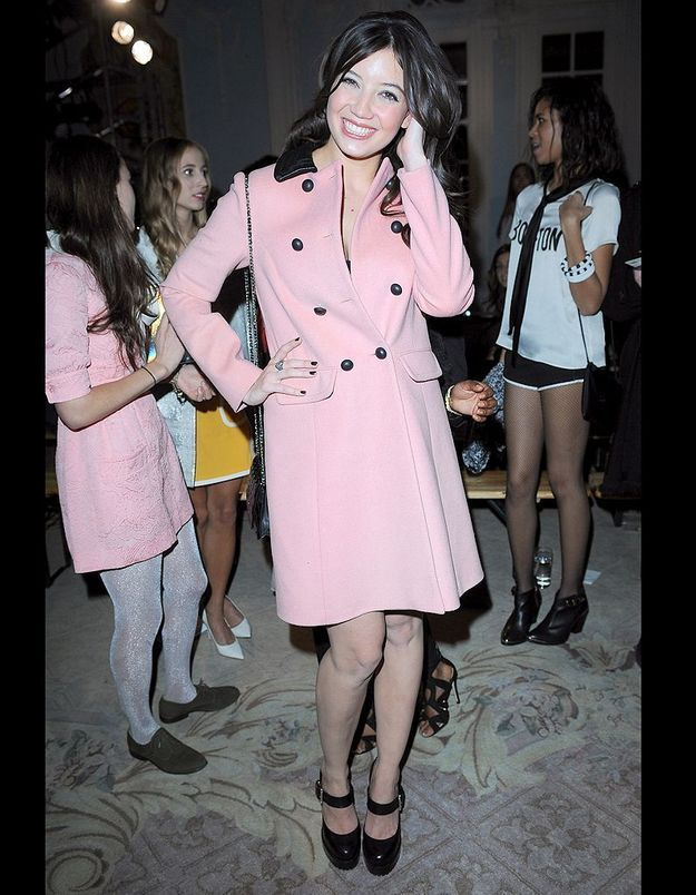 Daisy Lowe au défilé Moschino Cheap and Chic automne-hiver 2013-2014