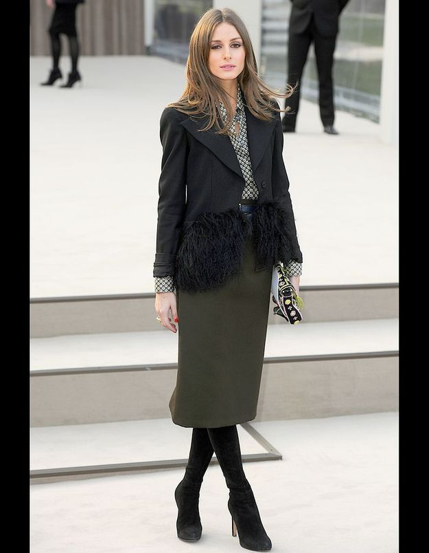 Olivia Palermo au défilé Burberry Prorsum automne-hiver 2013-2014